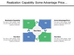 Realization Capability Some Advantage Price Orientation Price Realization