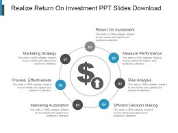 Realize Return On Investment Ppt Slides Download