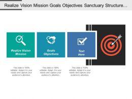 Realize Vision Mission Goals Objectives Sanctuary Structure Diagram