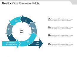 Reallocation Business Pitch Ppt Powerpoint Presentation Icon Aids Cpb