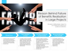 Reason Behind Failure Of Benefits Realisation In Large Projects