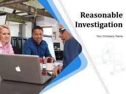 Reasonable Investigation Powerpoint Presentation Slides