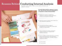 Reasons Behind Conducting Internal Analysis