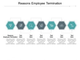 Reasons Employee Termination Ppt Powerpoint Presentation Layouts Guidelines Cpb
