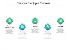 Reasons Employee Turnover Ppt Powerpoint Presentation Portfolio Topics Cpb