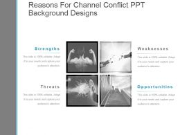 Reasons For Channel Conflict Ppt Background Designs