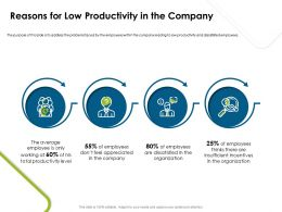 Reasons For Low Productivity In The Company Productivity Ppt Presentation Information