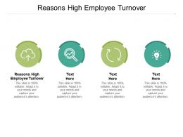 Reasons High Employee Turnover Ppt Powerpoint Presentation Ideas Topics Cpb