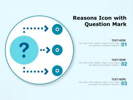 Reasons Icon With Question Mark