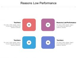 Reasons Low Performance Ppt Powerpoint Presentation Professional Smartart Cpb