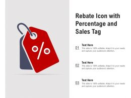 Rebate Icon With Percentage And Sales Tag