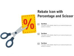 Rebate Icon With Percentage And Scissor