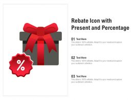 Rebate Icon With Present And Percentage