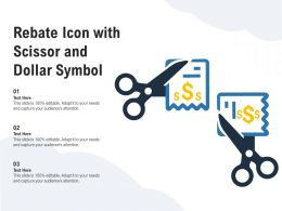 Rebate Icon With Scissor And Dollar Symbol