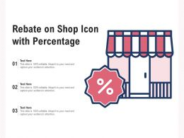 Rebate On Shop Icon With Percentage