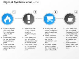 Rebel Exclamation Shopping Cart Coffee Ppt Icons Graphics