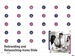 Rebranding And Relaunching Icons Slide Rebranding And Relaunching Ppt Template