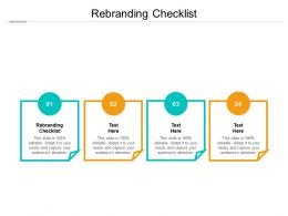 Rebranding Checklist Ppt Powerpoint Presentation Summary Graphics Template Cpb