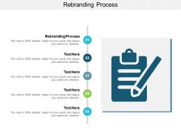 Rebranding Process Ppt Powerpoint Presentation Gallery Tips Cpb