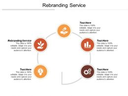 Rebranding Service Ppt Powerpoint Presentation Gallery Designs Download Cpb