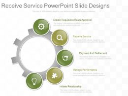 Receive Service Powerpoint Slide Designs
