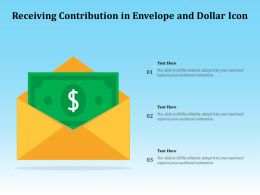 Receiving Contribution In Envelope And Dollar Icon