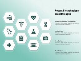 Recent Biotechnology Breakthroughs Ppt Powerpoint Presentation Visuals