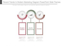 Recent Trends In Modern Marketing Diagram Powerpoint Slide Themes