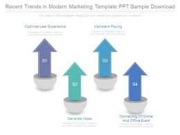 Recent Trends In Modern Marketing Template Ppt Sample Download
