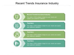 Recent Trends Insurance Industry Ppt Powerpoint Presentation Inspiration Visuals Cpb