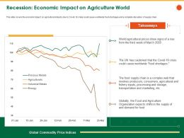Recession Economic Impact On Agriculture World Storage Ppt Powerpoint Presentation Icon Deck