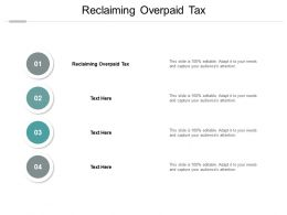 Reclaiming Overpaid Tax Ppt Powerpoint Presentation Ideas Icon Cpb