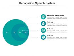 Recognition Speech System Ppt Powerpoint Presentation Infographic Template Elements Cpb