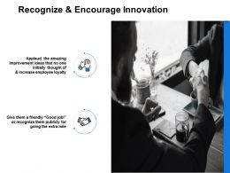 Recognize And Encourage Innovation Opportunity Powerpoint Presentation Slides