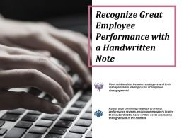 Recognize Great Employee Performance With A Handwritten Note