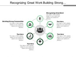 Recognizing Great Work Building Strong Communities Support Teams