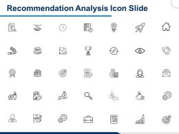 Recommendation Analysis Icon Slide Goals I51 Ppt Powerpoint Presentation File Examples
