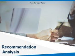 Recommendation Analysis Powerpoint Presentation Slides