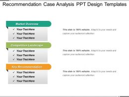Recommendation Case Analysis Ppt Design Templates