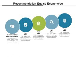 Recommendation Engine Ecommerce Ppt Powerpoint Presentation Layouts Graphic Images Cpb