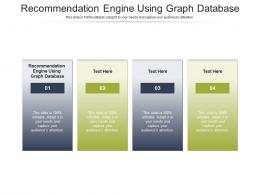 Recommendation Engine Using Graph Database Ppt Powerpoint Presentation Slides Template Cpb