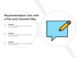 Recommendation Icon With A Pen And Comment Box