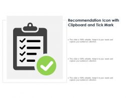 Recommendation Icon With Clipboard And Tick Mark