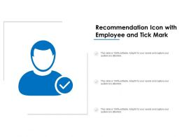 Recommendation Icon With Employee And Tick Mark