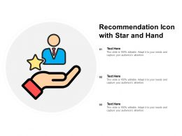 Recommendation Icon With Star And Hand