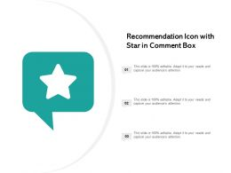 Recommendation Icon With Star In Comment Box