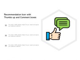 Recommendation Icon With Thumbs Up And Comment Boxes