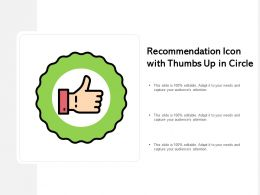 Recommendation Icon With Thumbs Up In Circle