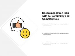 Recommendation Icon With Yellow Smiley And Comment Box