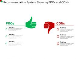Recommendation System Showing Pros And Cons